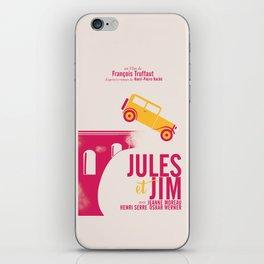 Jules et Jim, François Truffaut, minimal movie Poster, Jeanne Moreau, french film, nouvelle vague iPhone Skin