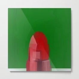 Buzzer Line - Lipstick Metal Print