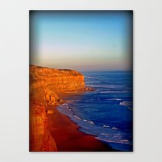 Sunsets on the limestone Cliffs Canvas Print