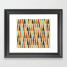 modern feathers Framed Art Print
