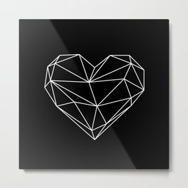 Low-poly heart Metal Print