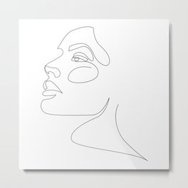 airy-fairy - one line beauty Metal Print