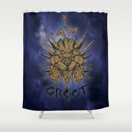 Cosmic tree Shower Curtain