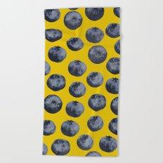 Blueberry pattern Beach Towel