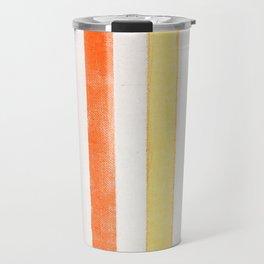 Rainbow stripes on canvas Travel Mug