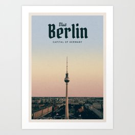 Visit Berlin Art Print