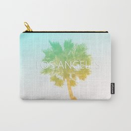 Retro Vintage Ombre Los Angeles, Southern California Palm Tree Colored Print Carry-All Pouch