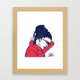 Cosima in Red Framed Art Print