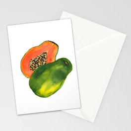 Watercolor Papaya Stationery Cards