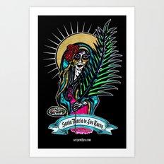 Santa Maria de Los Tacos Art Print