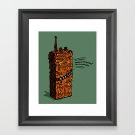Wookiee talkie Framed Art Print