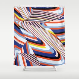 Over Lines Shower Curtain