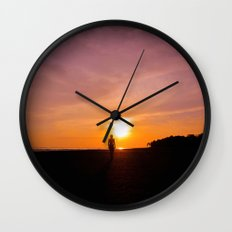 Sunset Walk Wall Clock