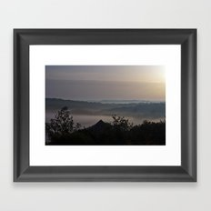 Foggy Morning in France Framed Art Print