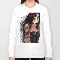 dia de los muertos Long Sleeve T-shirts featuring Dia De Los Muertos  by Kris Chisholm
