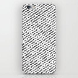 Binary Code - diagonal version iPhone Skin