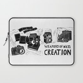 Weapons Of Mass Creation - Photography (blockprint) Laptop Sleeve
