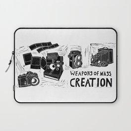 Weapons Of Mass Creation - Photography (blockprint) Laptop Sleeve