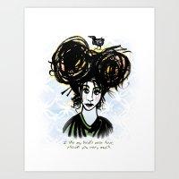 Bird's Nest Hair Art Print