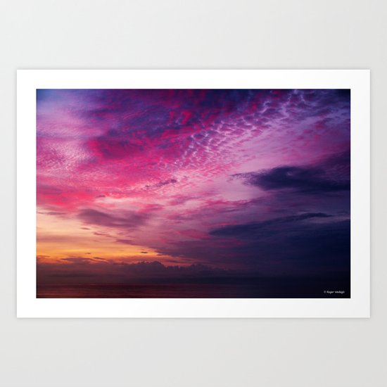 Red Sky Sunrise Art Print