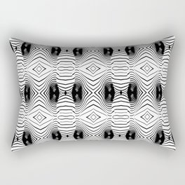 black wave lines  Rectangular Pillow