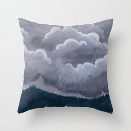Mountain Rain Throw Pillow