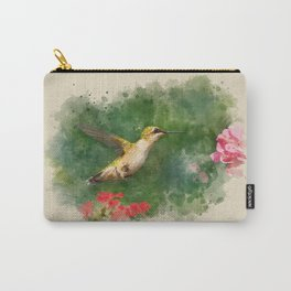Hummingbird Watercolor Painting Carry-All Pouch