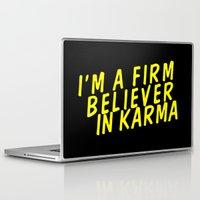 karma Laptop & iPad Skins featuring Karma.  by JessicaSzymanski