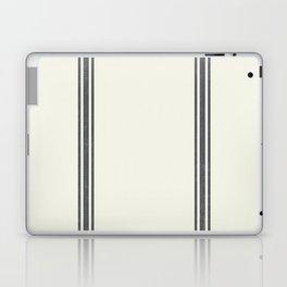 Grey Stripes on Creme background French Grainsack Distressed Country Farmhouse Laptop & iPad Skin