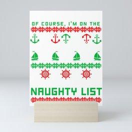 Im A Seaman Ugly Christmas Sweater Knit Gift Mini Art Print