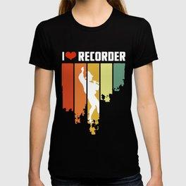 I Love Recorder Vintage Edition T-shirt