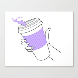 don't spill ! Canvas Print