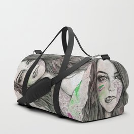 U-Turn (busty girl with mandala tattoos) Duffle Bag