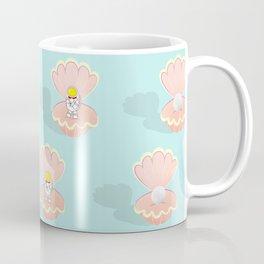 Space Birth of Venus | Astronaut Seashell | Pearl in Seashell | Under the Sea | pulps of wood Coffee Mug