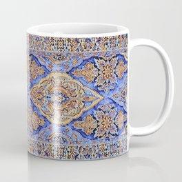Stained Glass Periwinkle Oriental Rug Runner Coffee Mug