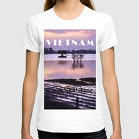 vietnam T-shirts featuring MEKONGDELTA - VIETNAM  by CAPTAINSILVA