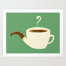 the Coffee Pipe Art Print