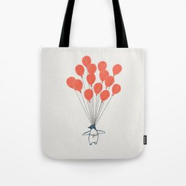 Penguin Balloons Tote Bag