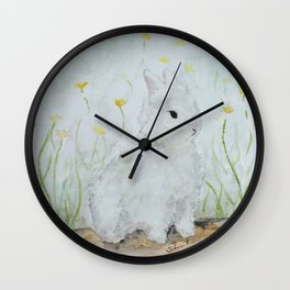 Eleanor on Easter Wall Clock