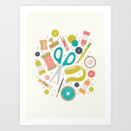 Get Crafty Art Print