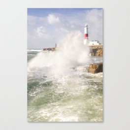 Portland Bill Storms Canvas Print