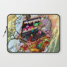 A Laptop Eating Multicolored Kittens Laptop Sleeve