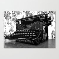 writer Canvas Prints featuring Antique writer by Vorona Photography