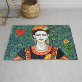 Frida, queen of hearts closer II Rug
