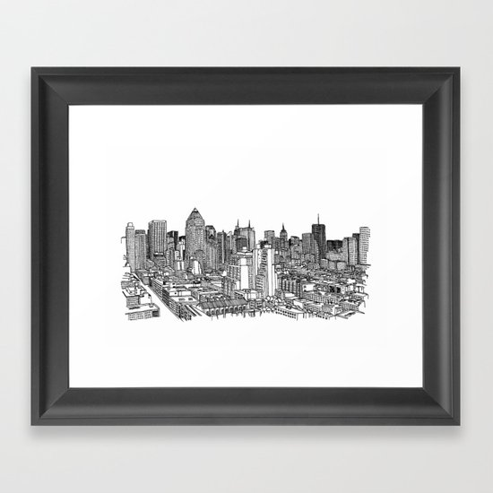 New York View 2 Framed Art Print