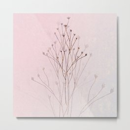Rose Gold Twigs Metal Print
