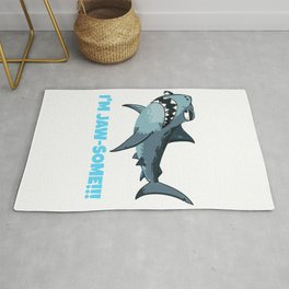 I'm Jaw Some Funny Shark Pun Rug