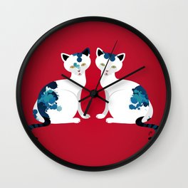 Two's Trouble Wall Clock