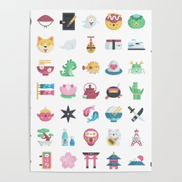 CUTE JAPANESE PATTERN Poster
