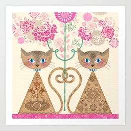 We Are Siamese Art Print